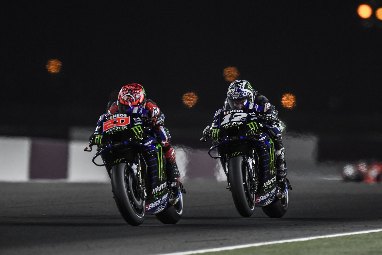 Viñales e Quartararo - 1ª Etapa MotoGP 2021 - Catar